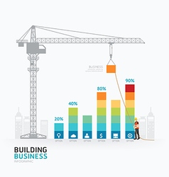 Infographic business graph template design vector