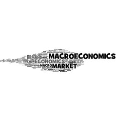 Macroeconomics word cloud concept vector