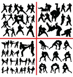 martial art mix vector image vector image