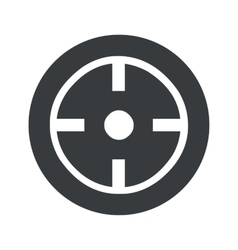 Monochrome round target icon vector