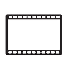 movie icon on white background movie icon sign vector image vector image