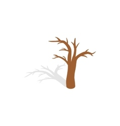 Naked tree icon isometric 3d style vector