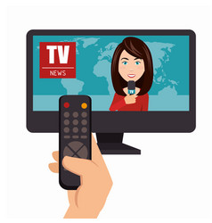 News presenter avatar character vector