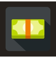 Packed dollars money icon in flat style vector image vector image