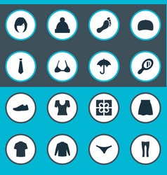 Set of simple wardrobe icons vector