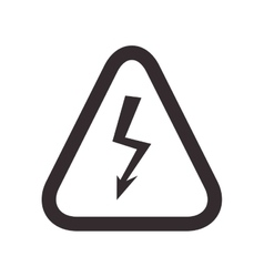 Thunder road sign triangle warning icon vector