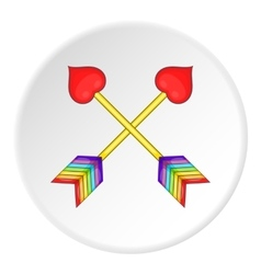 Two arrows LGBT icon cartoon style vector image vector image