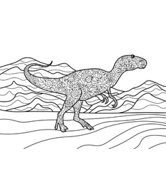 Tyrannosaurus coloring book for adults vector