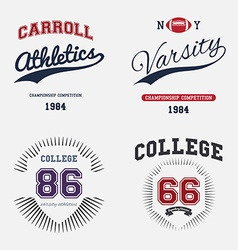 Varsity College Print vector image vector image