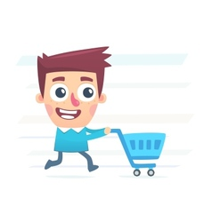 Whole day for shopping vector