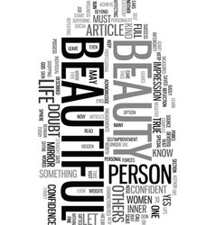 You are beautiful text word cloud concept vector