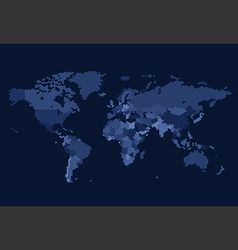 Worldmap dotted country hexagon blue vector