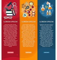 Set of banners chemistry and physics design vector