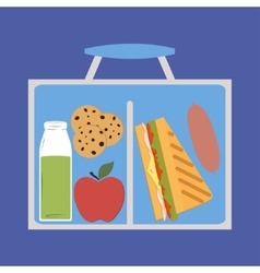 Lunchbox with lunch vector