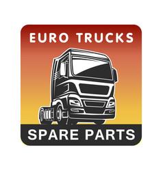 Truck spare parts cargo freight logo template vector