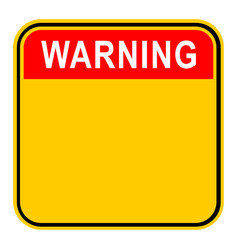 Sticker warning safety sign vector