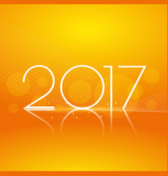 Clean orange background with 2017 text for new vector