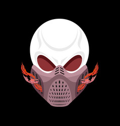 skeleton head paintball helmet skull protective vector image