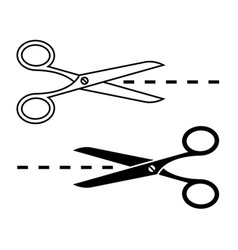 Set of cutting scissors vector image