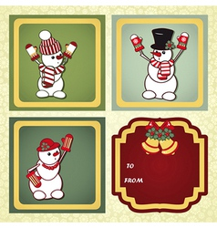 Christmas gift labels with elements of the vector
