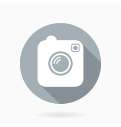 Camera icon with flat design vector