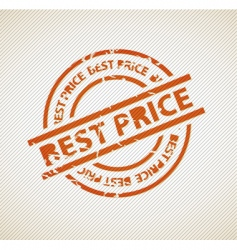 stamp for best price vector image