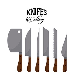 Set knifes vector