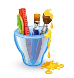 school tools vector image