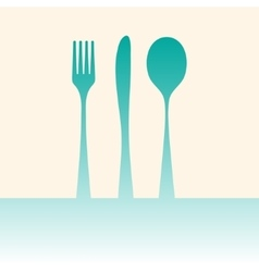 Cutlery shadow vector