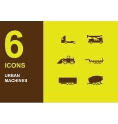 Urban machines icons vector