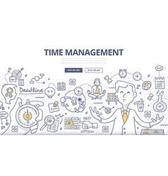 Time Management Doodle Concept vector image