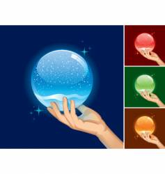 Snow globe for your object vector