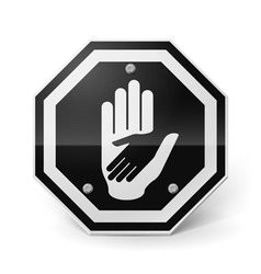 Helping hand metal sign vector image