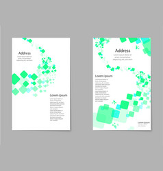 Abstract composition business card set box block vector