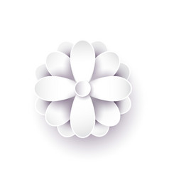 abstract paper flower 3d vector image