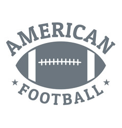 american football logo simple style vector image
