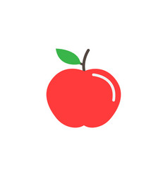 Apple flat icon food and diet element healthy vector