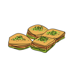 baklava isolated vector image vector image