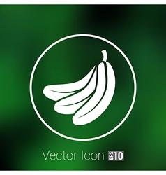 Banana Fruit infographic logo simple icon vector image
