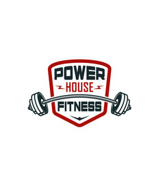 barbell gym fitness bodybuilding club icon vector image vector image