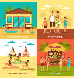 Beach holiday design concept vector