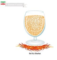Bel ka sharbat a popular drink in iran vector