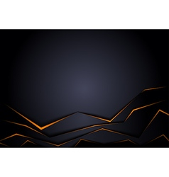 Black Background with Orange Edge vector image vector image