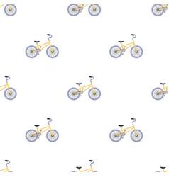 Bmx cyclist bicyclist athletes sportsman bike for vector