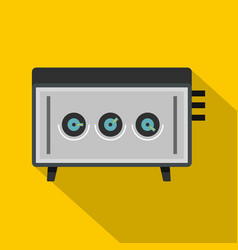 cd player icon flat style vector image vector image