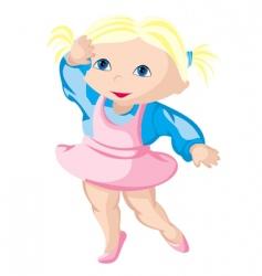 child ballerina vector image vector image