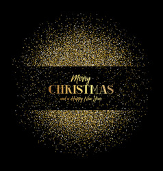 Christmas and new year background with gold vector