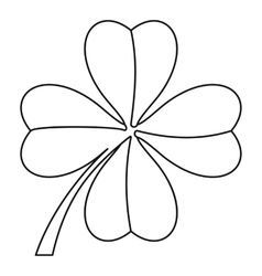 Clover leaf icon outline style vector image