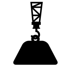 crane lifting isolated icon vector image