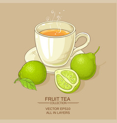 Cup of bergamot tea vector